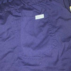 Grey's Anatomy Pants - Navy blue Grey's Anatomy scrub pants drawstring